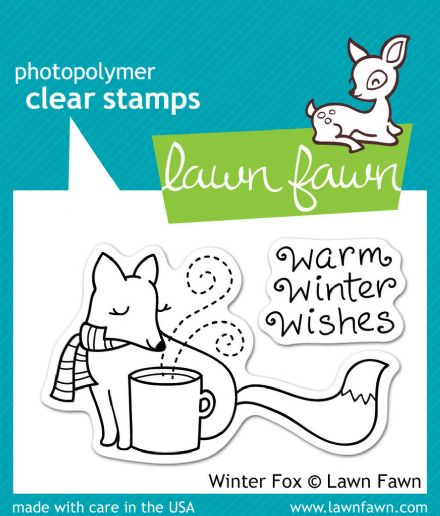 LF0363 S ~ WINTER FOX~ CLEAR STAMPS BY LAWN FAWN